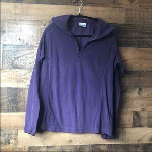 Columbia Purple Fleece Quarter Zip Pullover